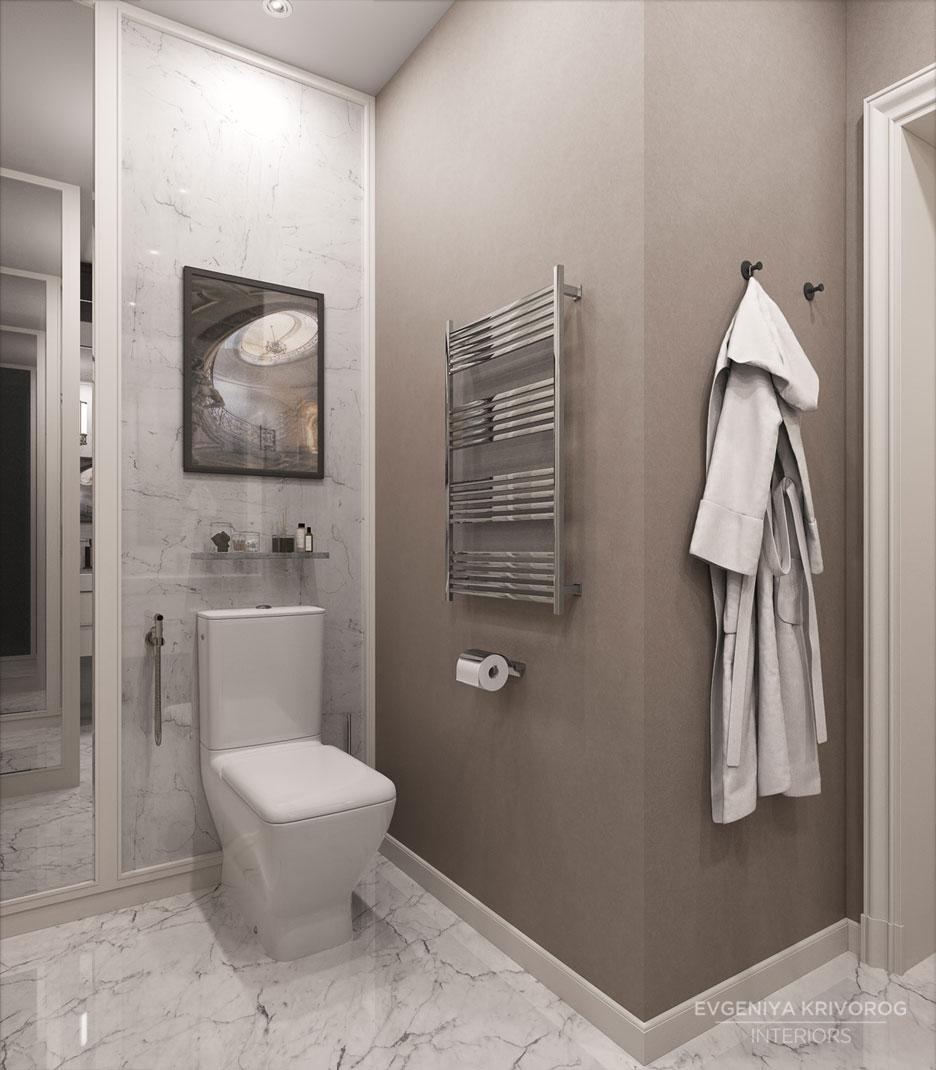 Покраска стен в туалете пример