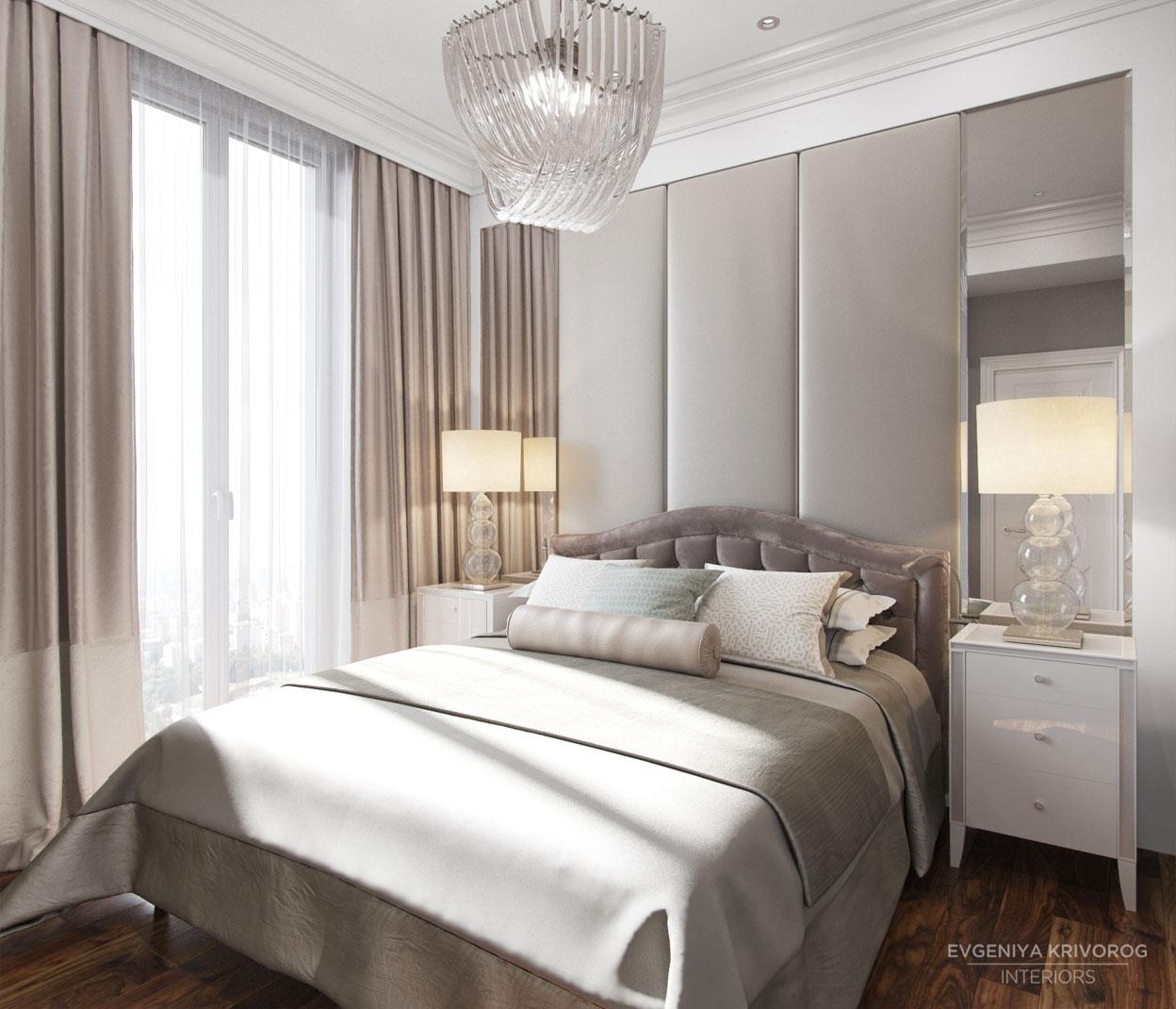 Пастельные цвета спальни