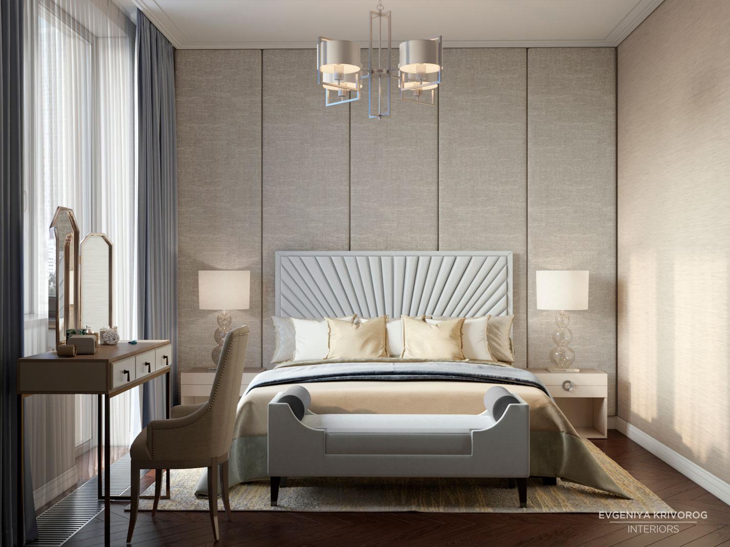 Жилой комплекс Воробьев Дом интерьер спальни | цены на дизайн-проект